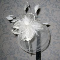 Small White Crin Fascinator SN839/SN840